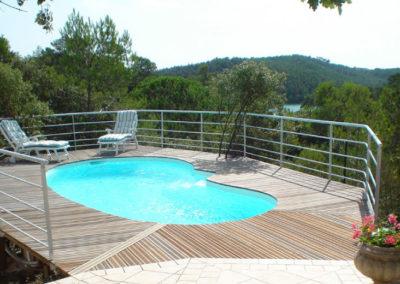 Construction de piscine coque polyester en Haute-Savoie